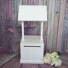 Wedding Wishing Well -wooden timber box - White Wood Engagement card box