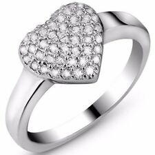 Diamond 925 Sterling Silver Ring 3/5 Carat (45 Pcs) Flawles Created