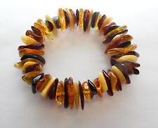 Bracelet ambre baltique adulte multicolore chips style + CERTIFICAT