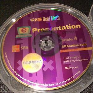 SRA Real Math Technology e Presentation CD ROM w/ storage case  Grade 4 CA