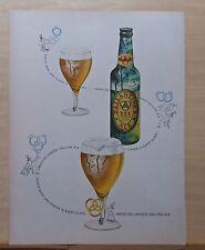 1949 magazine ad for Ballantine's Ale - Smoke signal puffs iconic three rings
