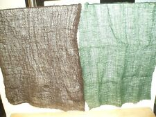 A4 SIZE 2x PIECES OLIVE/BROWN CAMOUFLAGE NETTING FOR MODEL SCENES & DIORAMAS