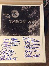 Twilight Zone Cast signed autograph George Takei William Shatner Jonathan Harris
