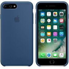 """New Genuine 2017 Soft Silicone Case for Apple iPhone 7 4.7"""" in Ocean Blue"""
