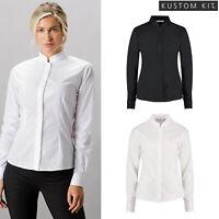 Kustom Kit Womens Mandarin Collar Long Sleeved Shirt (KK261) Tailored Fit Shirt
