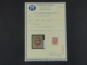 Nystamps US Postage Due Stamp # J4 Mint OG H $800 PF Certificate a10xp