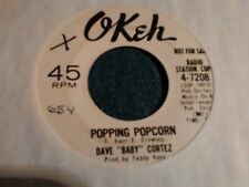 "dave baby Cortez Popping popcorn Okeh 7208  Promo  northern soul 7"" 45rpm"