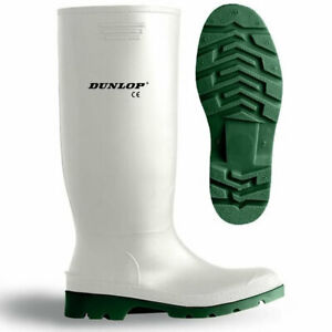 Dunlop Pricemaster Non Safety 100% Waterproof Wellington Work Boots Adults White