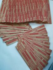 100 Pack One Cent, Penny, Pop-Open / Flat Paper Coin Wrappers. Tubes for Pennies