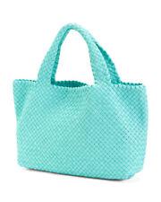 FALOR woven leather handbag tote w/