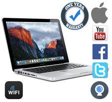 APPLE MACBOOK POWERFUL 4.0GHZ 160GB 4GB RAM A1278 OSX EL CAPITAN ALUMINUM SILVER
