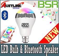 BSR Bluetooth Smart LED Bulb Music Light Speaker Android & Apple Bayonet B22