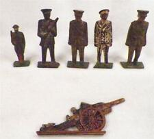 Cast Iron Doughboy Police Officer 3 Soldiers Canon Cast Iron Toys Men Vintage