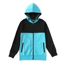 Beautiful Giant Men's Hooded Long Pocket Active Track Jacket Black Blue Gift Tee