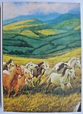 READER'S DIGEST MAGAZINE MAY 1980. NOSTALGIC ADS. BACK COVER ART - WELSH PONIES