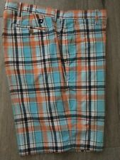 Men's Foot Joy Golf Shorts size 38 Plaid Euc