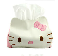 Cute Pink Bow Hello Kitty Bedroom Car Tissue Kleenex Box Cover Holder