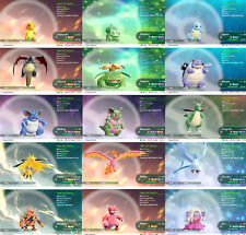 Pokemon Lets Go Pikachu & Eevee Shiny All 153 + Alolan  - 6 Pack - You Choose