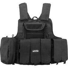 Barska Loaded Gear VX-300 Black Tactical Molle Vest w/7 Detachable PCS, BI12256