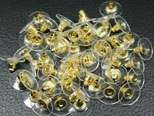 HOT New Wholesale 20 Pcs/lot Charm Gold Plastic Earring Backs Stoppers 12mm