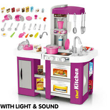 Kitchen Play Set Pretend Baker Kids Toy Cooking Playset Girl Food Gift Xmas Toys