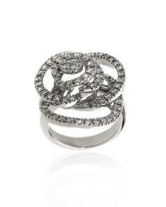 Damiani Bocciolo 18k White Gold Diamond 1.438ct Ring Sz 7.5 20059573 $13650