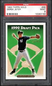 1993 Topps Gold #98 DEREK JETER RC HOF New York Yankees PSA 9 MINT