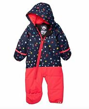 NWT Roxy Dry Flight Jumpsuit SnowSuit Toddler Girls PINK STARS 12M TODDLER $120