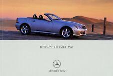 0363MB Mercedes SLK Prospekt 2001 8/01 brochure 32 AMG 320 230 200 Kompressor