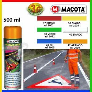 MACOTA SEGNALETICA vernice spray per segnaletica stradale - 500 ML - 6 TINTE