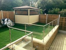 Glass Balustrade / Handrail / Railings / Balcony / Decking / Home / Garden