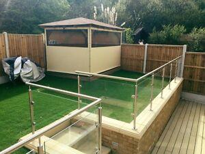 Glass Balustrade / Handrail / Railings / Balcony / Decking / Home / Garden