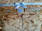 Handmade Marines Diaper bag embroidery desert or woodland Marine choose colors