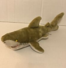 "Brown Shark Toy Stuffed Animal Plush 18"" Long"