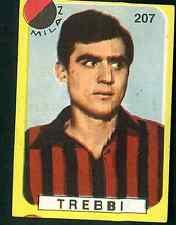 Figurina Calciatori Lampo 1963-64! N.207! Trebbi! Milan! Nuova!!
