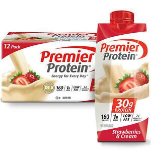 [NEW] Premier Protein High Protein Shake, Strawberries & Cream 11 fl. oz.12 pk