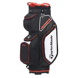 TaylorMade Mens Cart 8.0 Cart Golf Bag 2020 - Black/White/Red