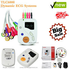 CE,48 Hours Dynamic ECG Holter 12 Channel EKG Machine USB Software OLED TLC6000