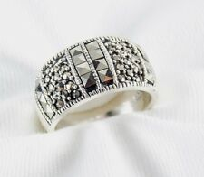 Genuine Marcasite Ring in 925 Sterling Silver Size 6.5