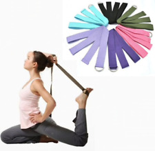 Women Yoga Stretch Strap D-Ring Belt Fitness Exercise Gym Rope Figure Waist Leg