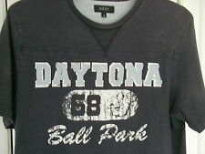 Mens NEXT Navy Blue T shirt Daytona Ball Park Small