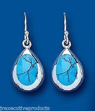 Turchese orecchini argento sterling goccia pendente