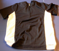 Perfomance~BLACK & WHITE ZIPPERED SHIRT~Size Womens Small~Cycling~Bicycling