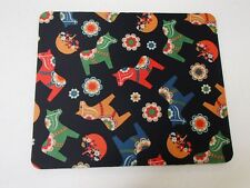 Scandinavian Swedish Dalarna Dala Horse & Flowers Mouse Pad #238D
