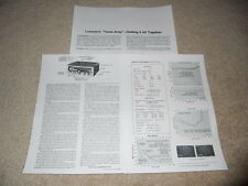 Luxman R-1120 Receiver Review, 3 pg, Best Ever? Specs, Full Test, 1978