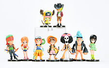 One Piece Movie Strong World Action Figures Set: Luffy Nami Choppe Sanji Usopp