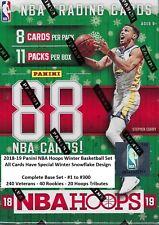 2018-19 NBA HOOPS WINTER BASKETBALL SET (300 cards) 260 VETERANS / 40 ROOKIES