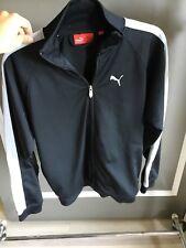 PUMA boys black long sleeve track jacket
