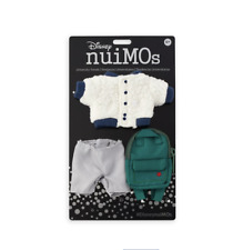 Disney NuiMOs Outfit Sherpa Jacket and Gray Pants with Green Backpack New w Card