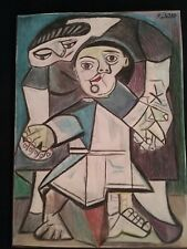 Picasso / Color Pencil Drawing / Mother and Child / Cubist Abstract